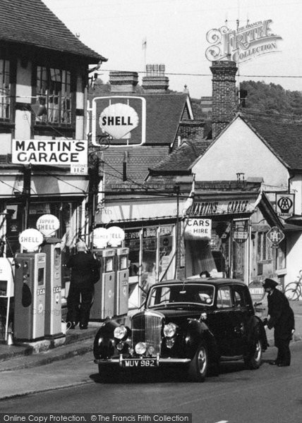 Photo of Forest Row, Martin's Garage 1960