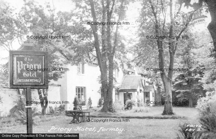 Photo of Formby, Priory Hotel c.1955
