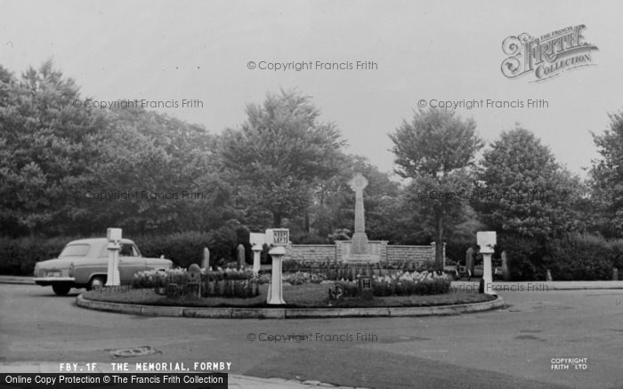 Photo of Formby, The Memorial c.1955