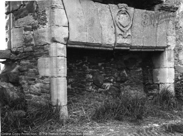 Photo of Forres, Fireplace, Blervie Castle 1961