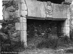 Fireplace, Blervie Castle 1961, Forres