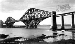 Forth Bridge, From Queensferry c.1890