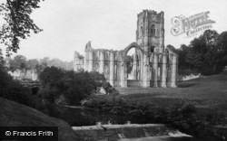 Fountains Abbey, And Waterfall c.1885