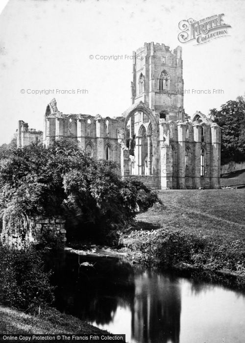 Photo of Fountains Abbey, c.1873