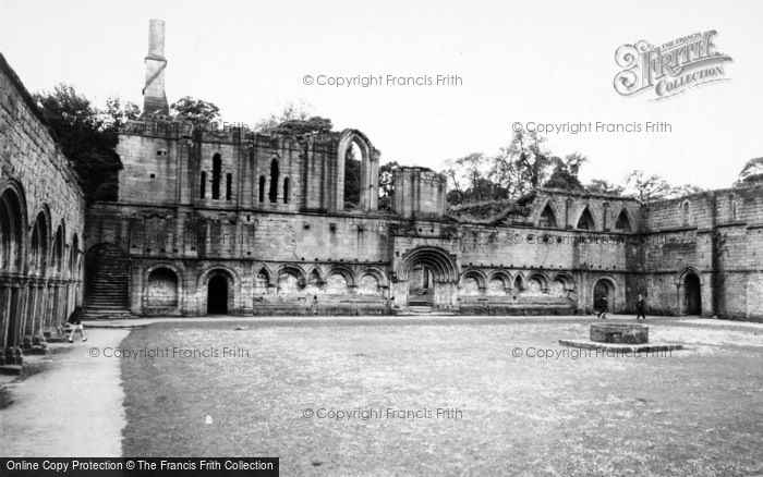 Photo of Fountains Abbey, c.1955