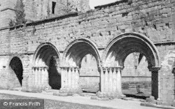 Fountains Abbey, Chapter House Arches c.1955