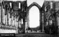 Fountains Abbey, Choir East c.1885