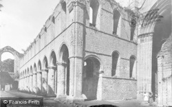 Fountains Abbey, Church From The High Altar c.1955