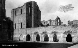 Fountains Abbey, Cloister Court 1895