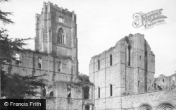 Fountains Abbey, Cloister Court c.1885
