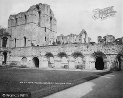 Fountains Abbey, Cloister Court c.1900