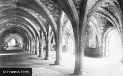 Fountains Abbey, Cloisters c.1885