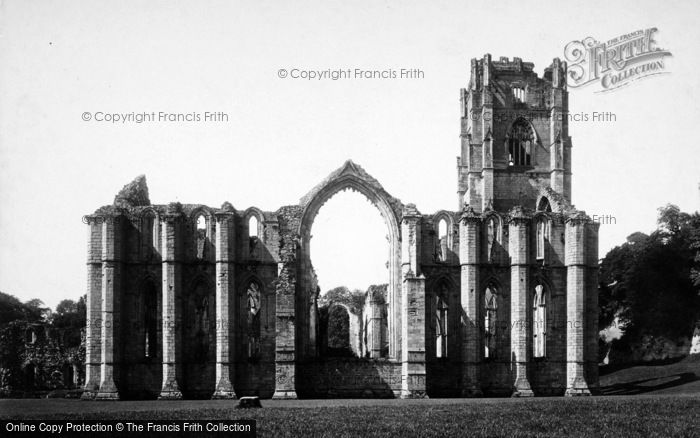 Photo of Fountains Abbey, East End c.1885