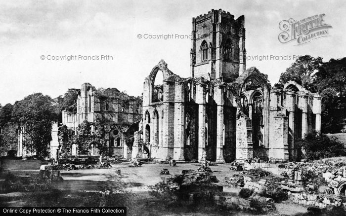 Photo of Fountains Abbey, From Abbott's House c.1885