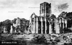Fountains Abbey, From Abbott's House c.1885