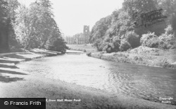 Fountains Abbey, From Half Moon Pond c.1955