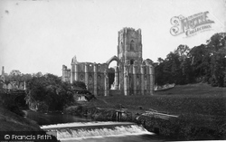 Fountains Abbey, From River c.1873