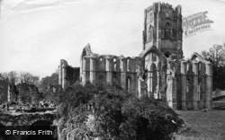 Fountains Abbey, From River, South East c.1867