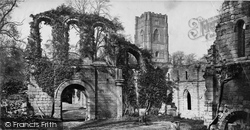 Fountains Abbey, From South Of Infirmary c.1871