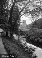 Fountains Abbey, From The River 1914