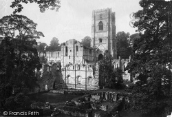 Fountains Abbey, From The South c.1885