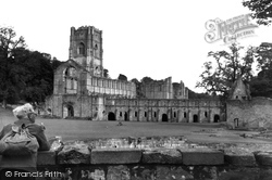 From The West c.1960, Fountains Abbey