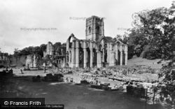 Fountains Abbey, General View c.1955