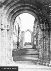 Fountains Abbey, Interior From West Door c.1885