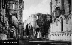 Fountains Abbey, Nave And South Aisle c.1890