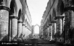 Fountains Abbey, Nave East 1895
