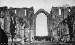 Fountains Abbey, Nave East And Chancel c.1871