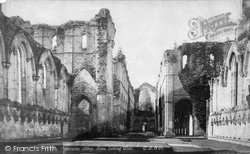 Fountains Abbey, Nave Looking West c.1890