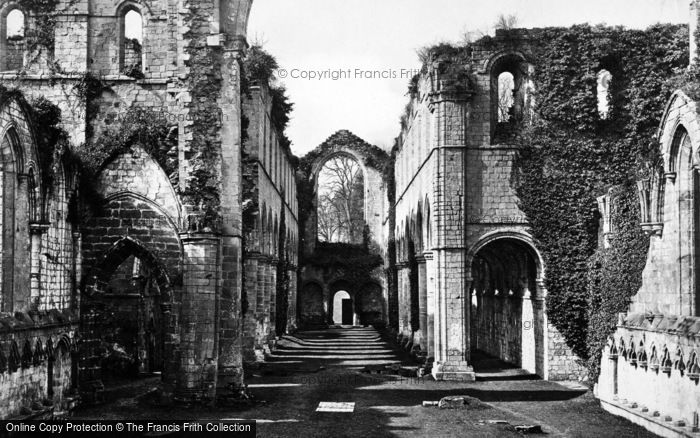 Photo of Fountains Abbey, Nave West c.1867