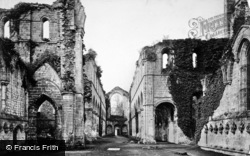 Fountains Abbey, Nave West c.1867