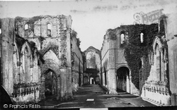 Fountains Abbey, Nave West c.1871