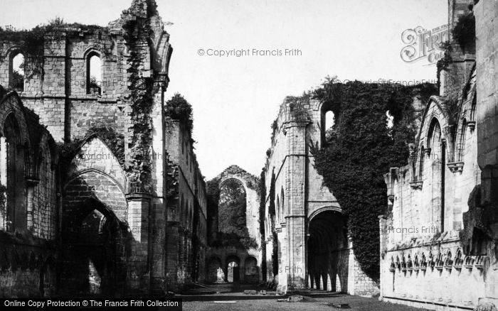 Photo of Fountains Abbey, Nave West c.1885