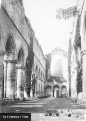 Fountains Abbey, Nave West c.1885