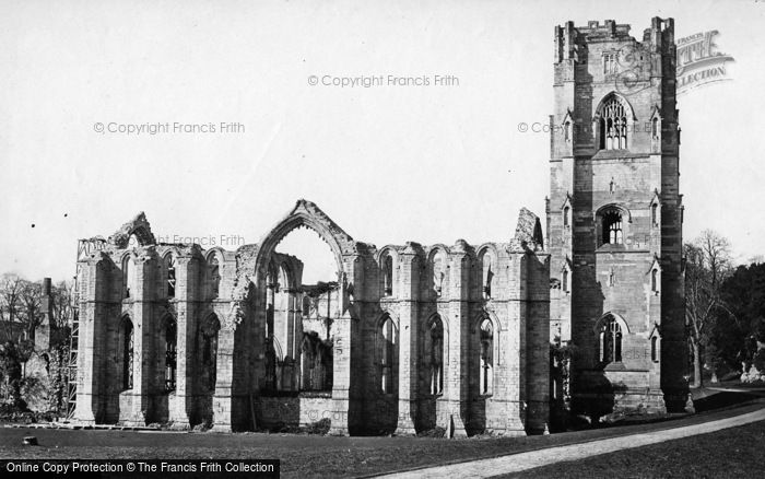 Photo of Fountains Abbey, North East c.1871