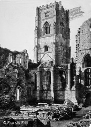 Fountains Abbey, North Tower From South East c.1867