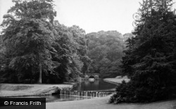 Fountains Abbey, Rustic Bridge And Waterfall 1914
