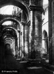 Fountains Abbey, South Aisle c.1885
