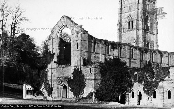 Photo of Fountains Abbey, South West c.1867