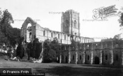 Fountains Abbey, South West c.1885