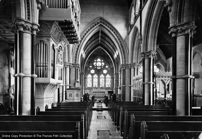 Photo of Fountains Abbey, Studley Royal Church, Interior 1914