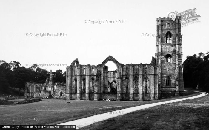 Photo of Fountains Abbey, The Abbey Ruins c.1955