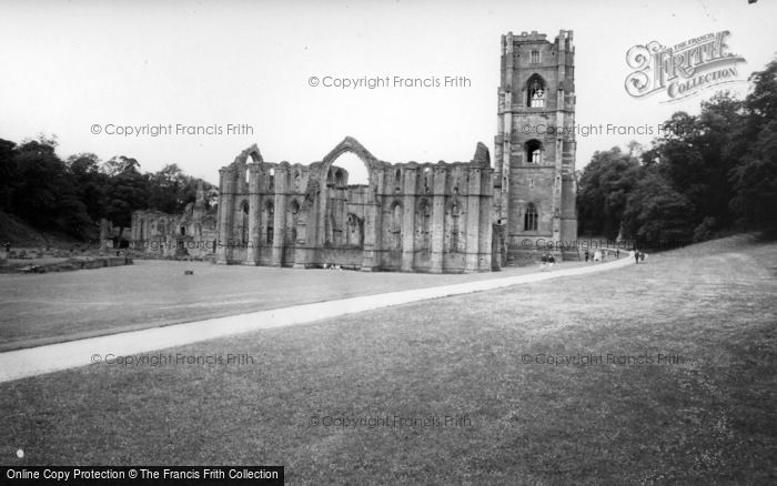 Photo of Fountains Abbey, The Abbey Ruins c.1960