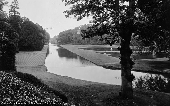 Photo of Fountains Abbey, The Lakes From New Walk 1914