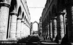 Fountains Abbey, The Nave c.1955