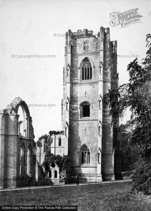 Photo of Fountains Abbey, The North Tower c.1900