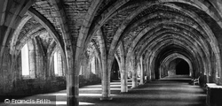 Fountains Abbey, The Undercroft To The West Range c.1873